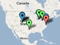 Pinball events and tournaments map