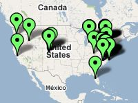 Map of pinball place locations