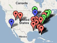 Pinball services locations map